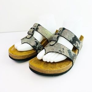 Sofft 1281056 Womens Holographic Snakeskin Sandals